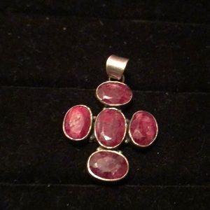 Jewelry - Sterling Silver/Ruby Pendant
